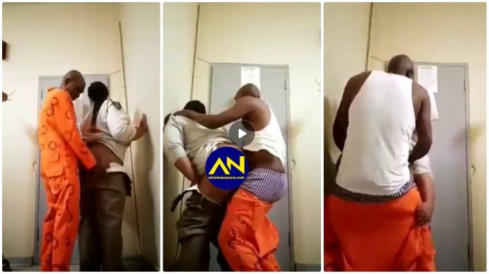 Prison warder video with inmate