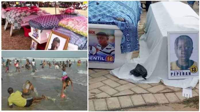 Tears flow as 13 Apam beach disaster victims go home in mass burial ceremony