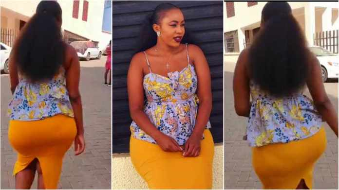 Slay Queen uses her big Nyash to woo people to church