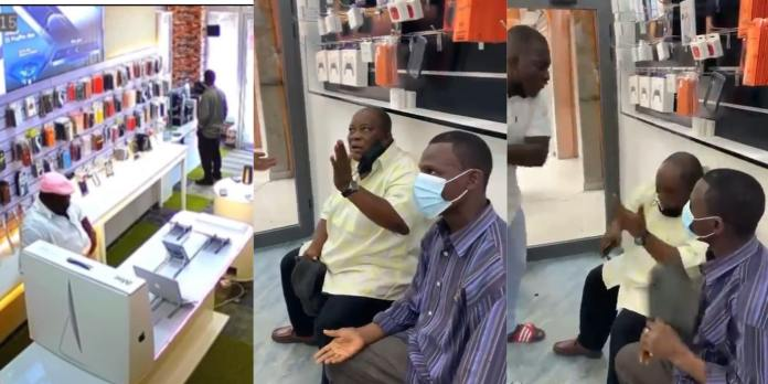 Two grown men who went on a stealing mission at phone shops finally busted