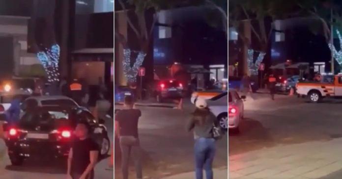 Broken-hearted man drives into a restaurant