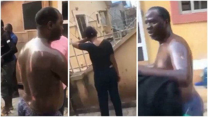 side-chick pours hot cooking oil on married sponsor