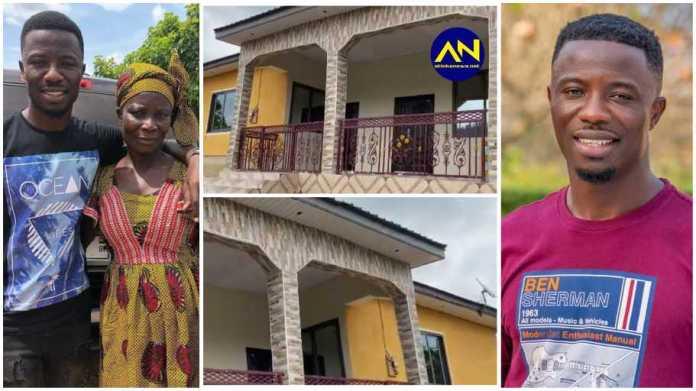 Kwaku Manu surprises parents with brand new house; video stirs emotions  [Watch]