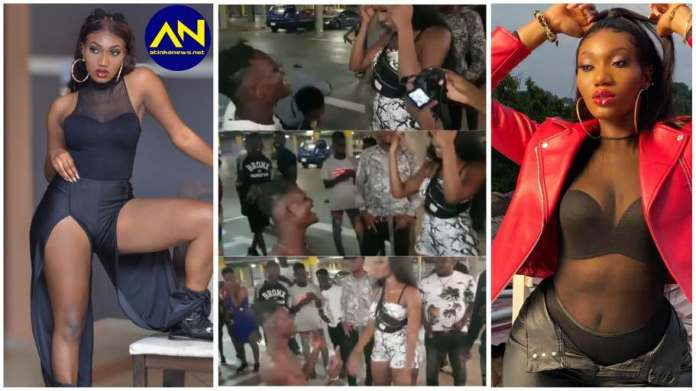 Wendy Shay fan kneels before her as he shows off a tattoo of her name on his chest [video]
