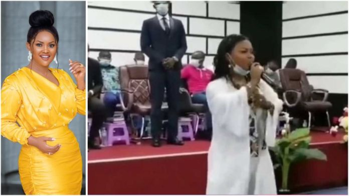 Nana Ama McBrown stormed the Church of Pentecost in Dubai