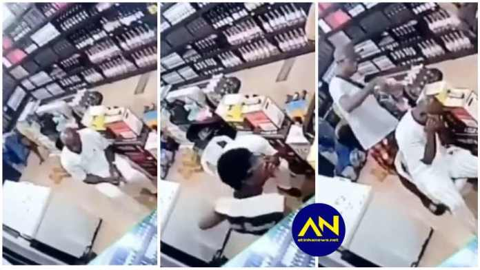 CCTV captures armed robbery operation in a wine shop