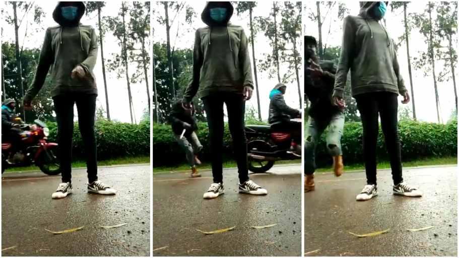 video of daylight robbery caught on camera