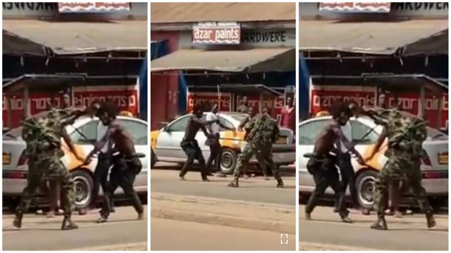 The soldiers, Abdulai Fatawu and Hussein Sibaay were reportedly beaten