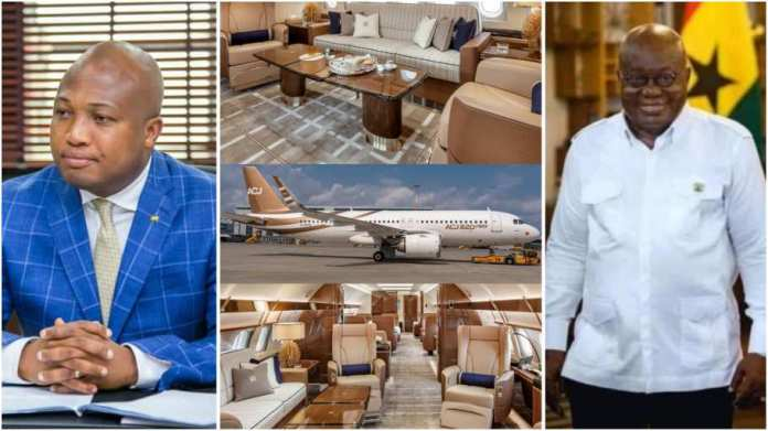 Akufo-Addo rents the Airbus ACJ320neo owned by Acropolis Aviation for £15,000 an hour