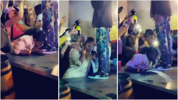 Woman goes gaga during rapper Riky Rick performance, licks his shoes