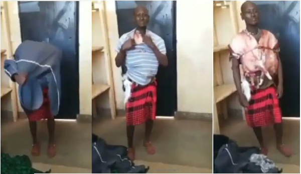 Man caught with stolen meat strapped around his body