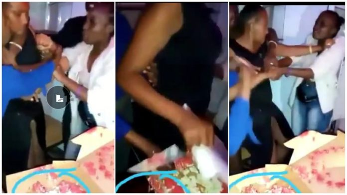 Birthday party turns nasty as slay queens exchange kicks and blows