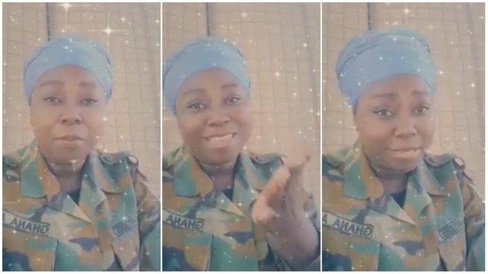 Ghanaian female soldier looking for husband