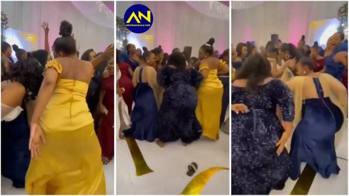 heavy duty backside ladies stealing the show at wedding