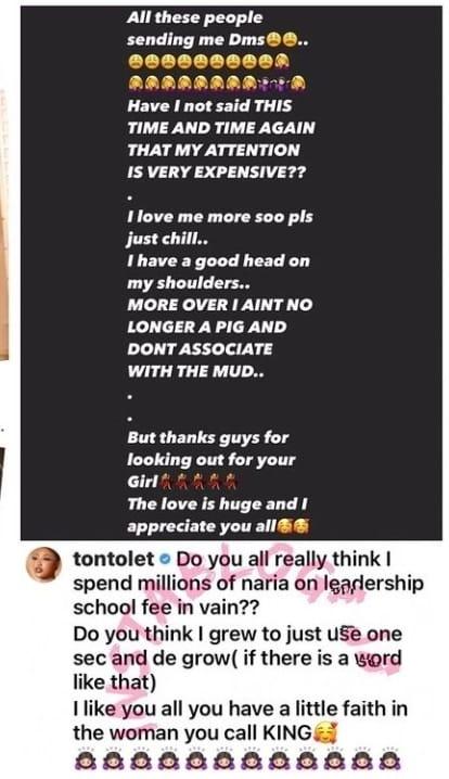 Tonto Dikeh and Bobrisky fights dirty on social media