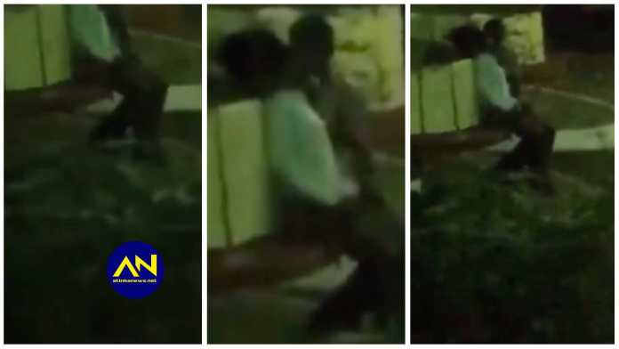KNUST : H0rny students filmed fing£ring, k!ssing and ch0pping each other in public at night