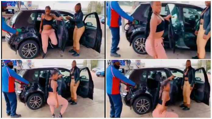 Video of a young girl dancing at a filling station goes viral on social media, and viewers are stunned at her moves.