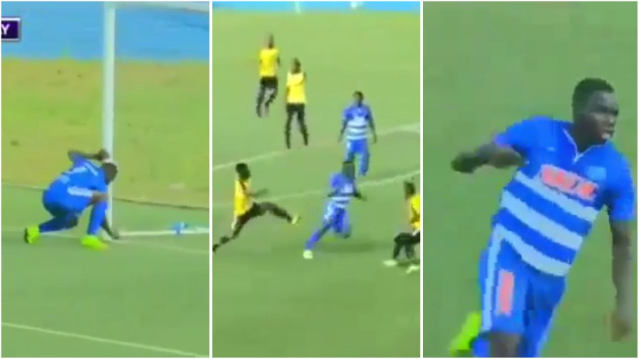 The shocking moment player removed juju from the goal post & scored 6 minutes later [video]