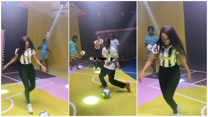 Wendy Shay stuns industry players with breathtaking football skills [Watch]