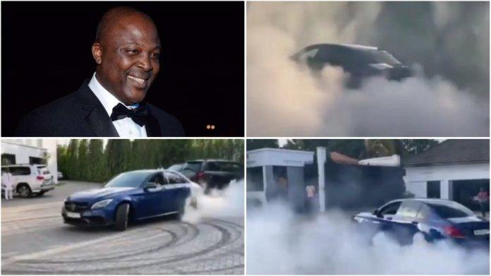 Ibrahim Mahama Brabus nearly caught fire as he display his drifting skills