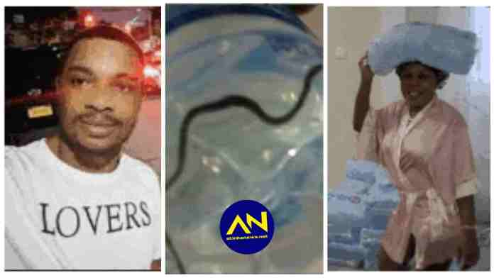 Photo of snake Twene Jonas alleged to be in Afia Schwar's bottled water