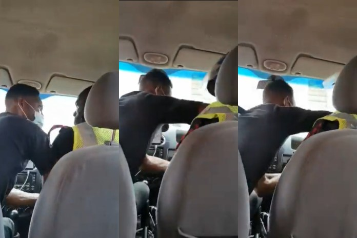 Uber driver fights Police Officer for seizing his car key