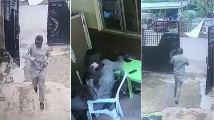 Man busted on camera stealing phone inside church