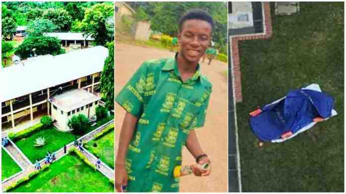 final year student of Tweneboa Kodua SHS jumps to his death