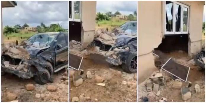 Cash wash man crashes client's Mercedes Benz
