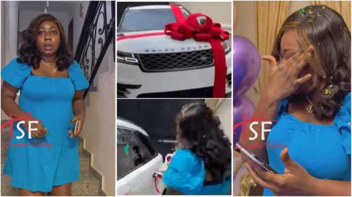Man moves wife to tears as he surprises her with new Range Rover