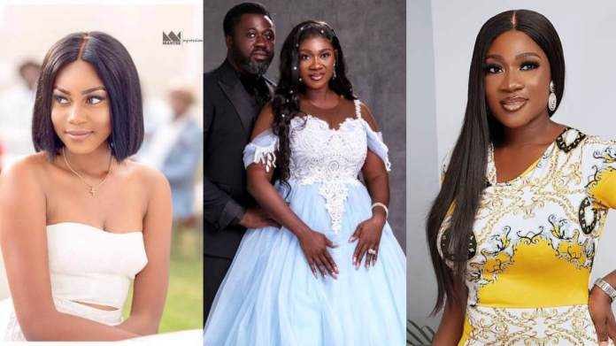 Yvonne Nelson served as Mercy Johnson bridesmaid