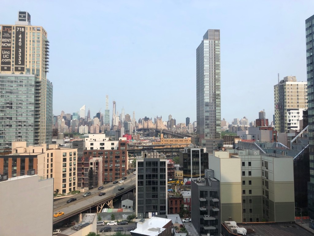 view from Aloft Long Island City room
