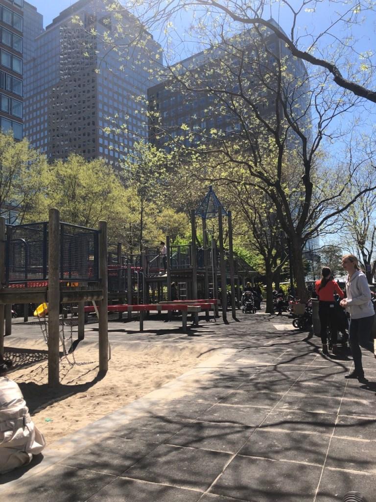 Rockefeller park in Battery Park City