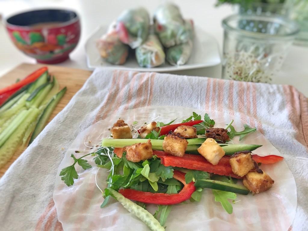 rouleaux de printemps - recettes végétariennes et vegan - recettes à tire larigot