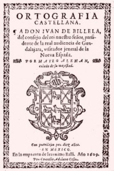 Portada de la _Ortografía_ de Mateo Alemán de 1609