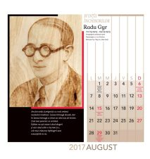 Calendar de perete 2017 Radu Gyr Sfintii inchisorilor comuniste