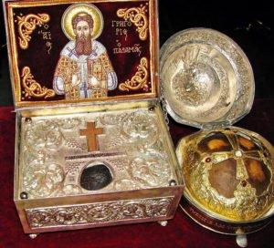 Sfantul-Grigorie-Palama-viata alcatita de maicile de la Manastirea Petru Voda-moaste