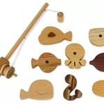 Jogo de pescaria compacto, cabe em qualquer brinquedoteca
