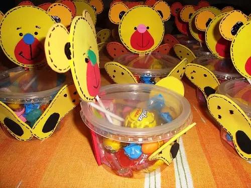 ursinho com doces