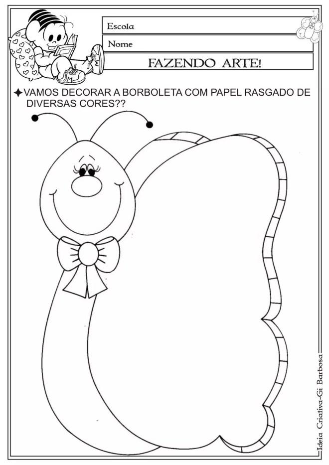Super colagem borboleta - Atividades para Educação Infantil KM75