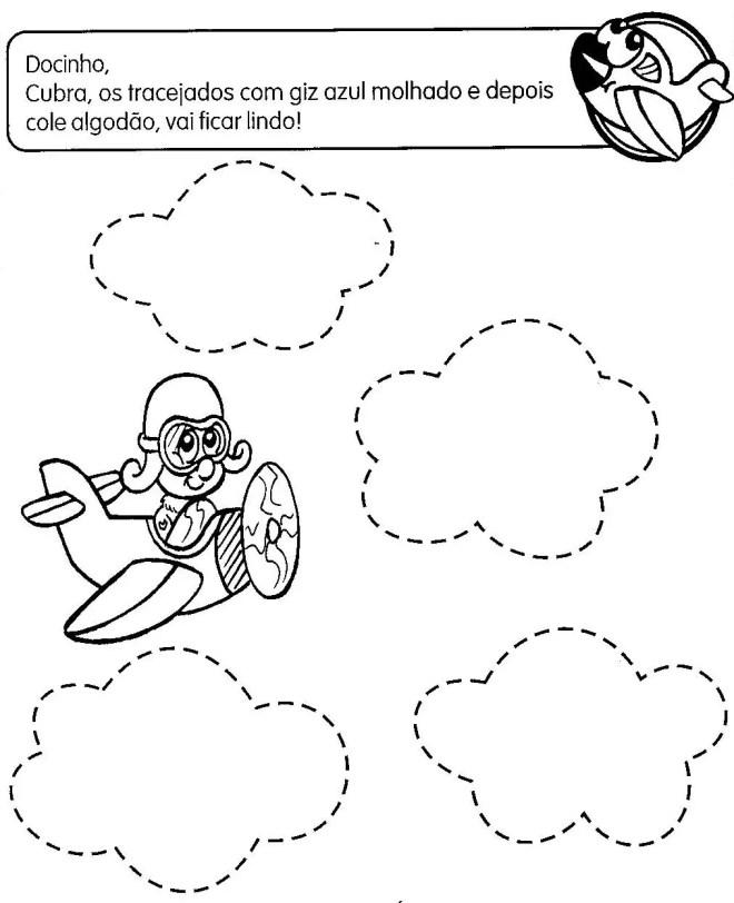 Populares colagem nuvem - Atividades para Educação Infantil KL29