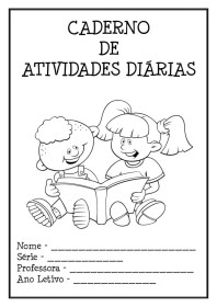 abertura caderno ATIVIDADES DIARIAS