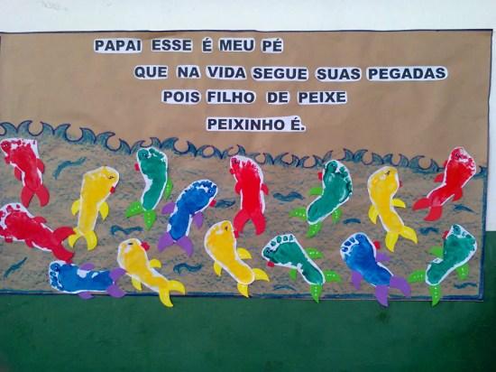 mural dia dos pais peixes