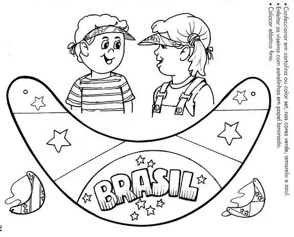 independencia-brasil-colorir-viseira