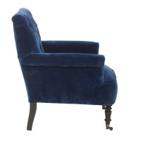 Pimlico Button Back Velvet Armchair