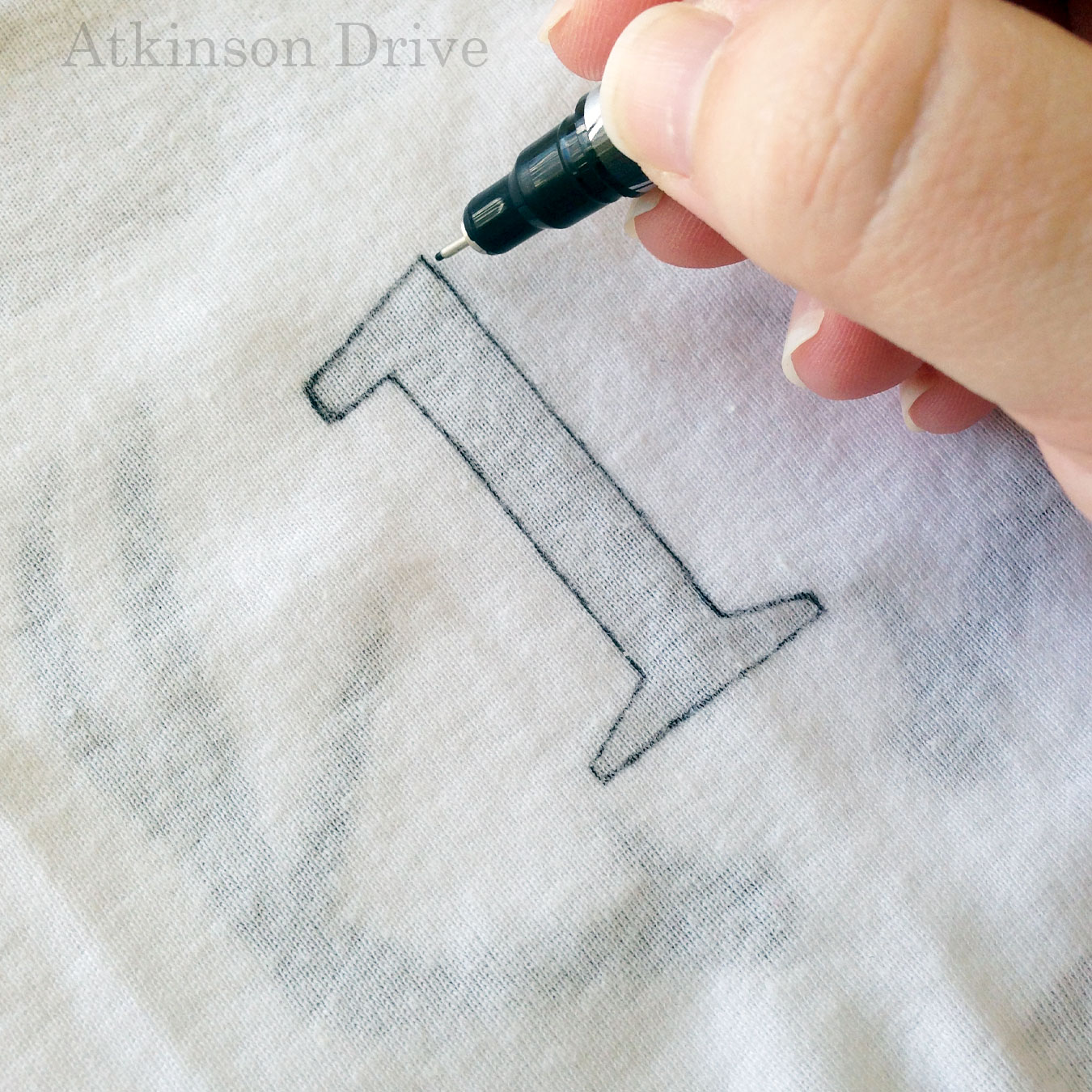 """DIY """"Month by Month"""" Infant Onesies (with a free download)   Atkinson Drive"""