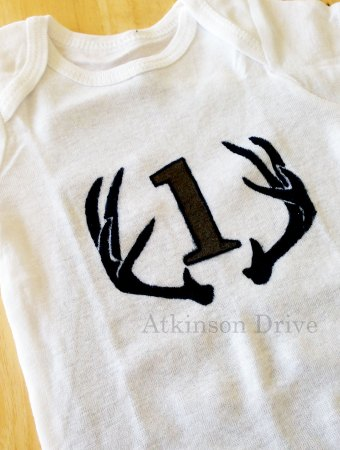 """DIY """"Month by Month"""" Infant Onesies"""