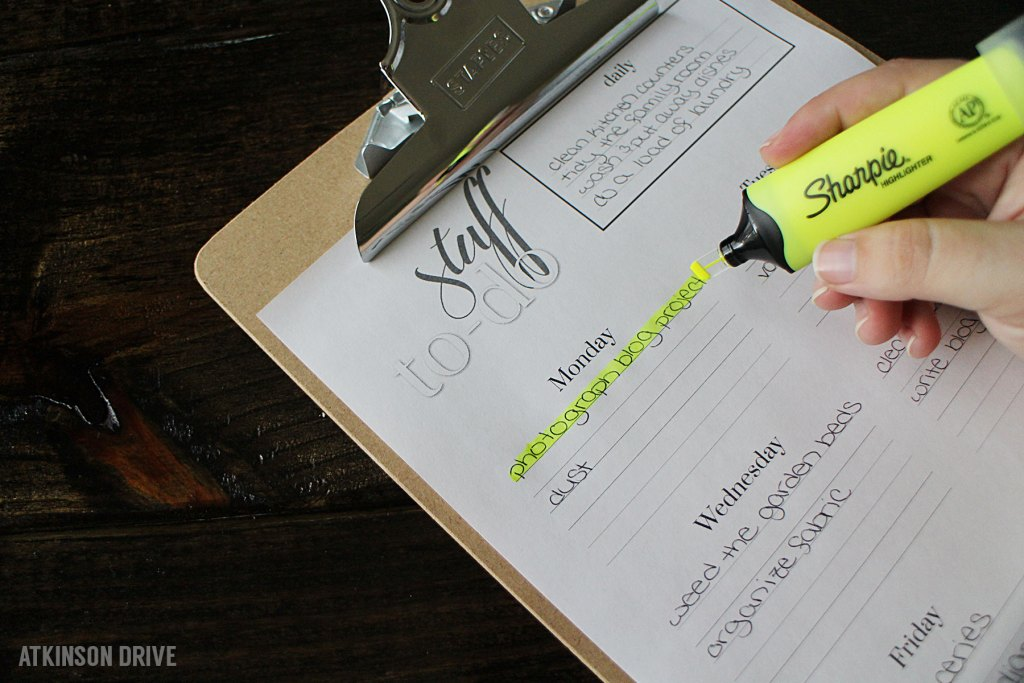 Tame Your To-Do List with Sharpie and Atkinson Drive