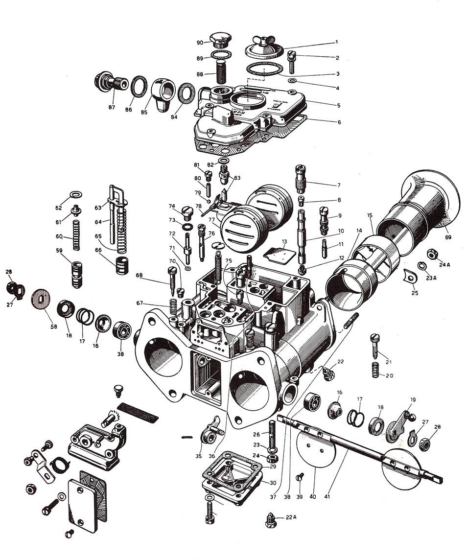Weber 45 DCOE Carburetor (19600.060)