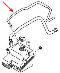 04-11 Rx8 Thermostat To Tank Upper Hose (N3H1-15-380A)